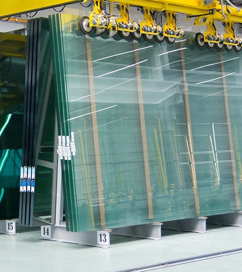 Own production of composite glass