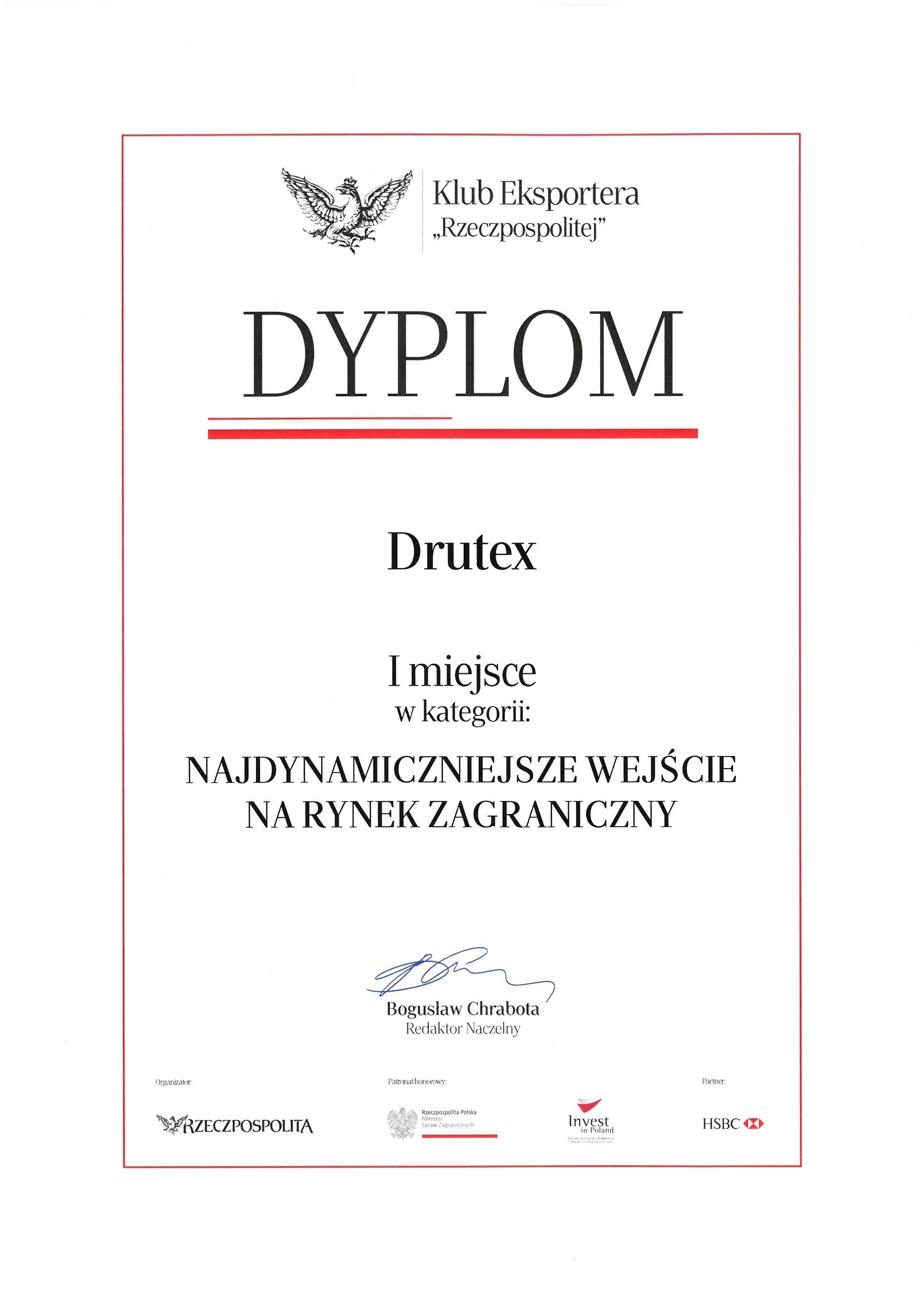 DRUTEX wins the Rzeczpospolita daily competition!