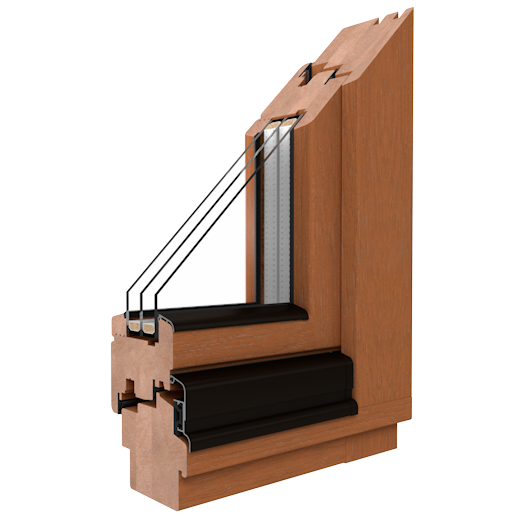 SOFTLINE - 68, 78, 88 - Holzfenster