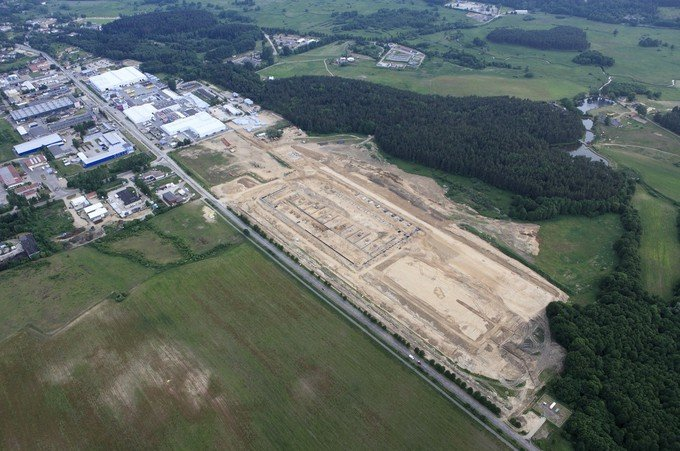 The beginning of the first stage of European Fenestration Centre construction, i.e. 30 000 m²  of production area